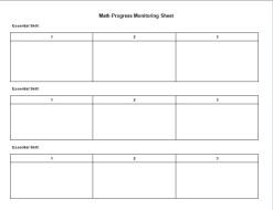 Math Progress Monitoring Tool