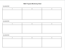 Math Progress Monitoring Tool